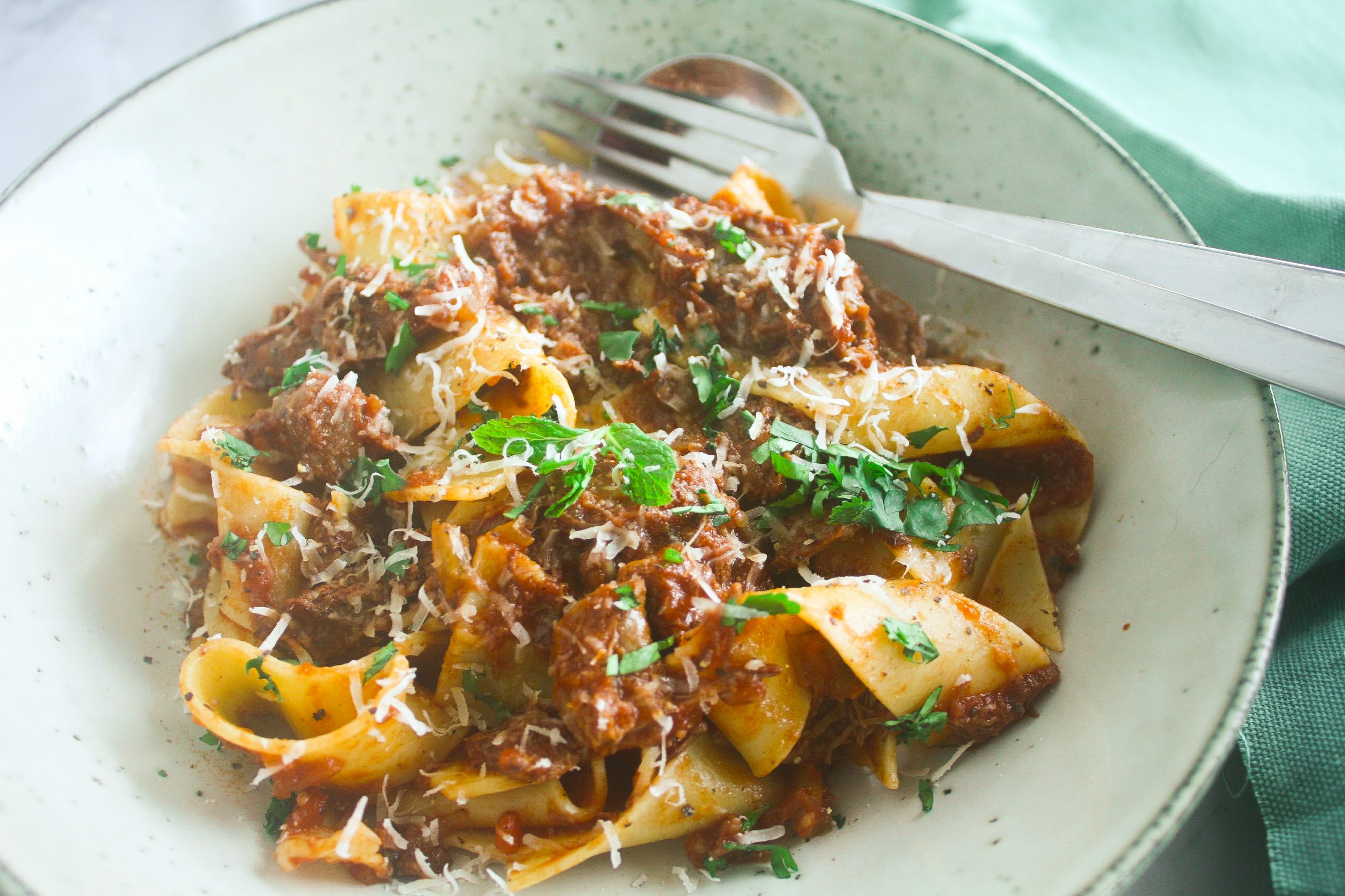 Slow Cooked Beef Ragu & Pappardelle